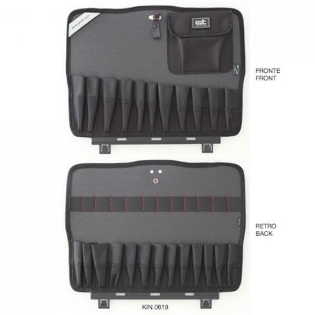 KIN.0619 GT LINE Pannello superiore PTS con tasche (sistema di fissaggio con Click&Go) per Atomik TWIN