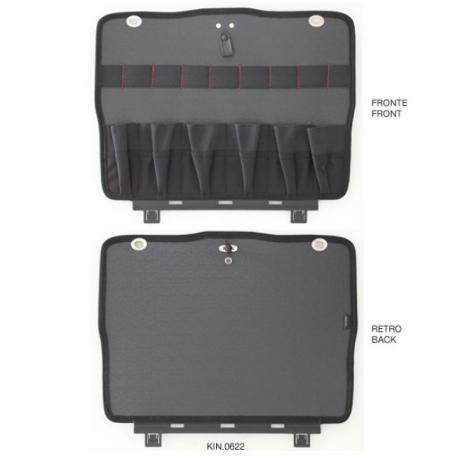KIN.622 GT LINE Pannello inferiore PTS con tasche (sistema di fissaggio con Click&Go) per Atomik TWIN