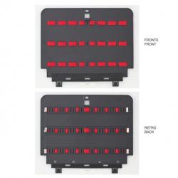 KIN.0981 GT LINE Pannello superiore PEL con elastici (sistema di fissaggio con Click&Go) per Boxer WH