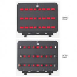 KIN.0982 GT LINE Pannello inferiore PEL con elastici (sistema di fissaggio con Click&Go) per Boxer WH
